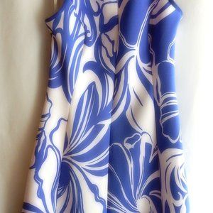 LILLY PULITZER BLUE & WHITE KNIT SUMMER DRESS